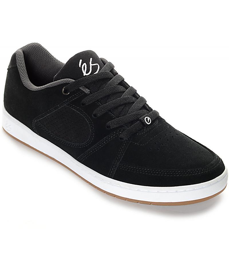 Mens Black Skate Shoes - eS Accel Slim