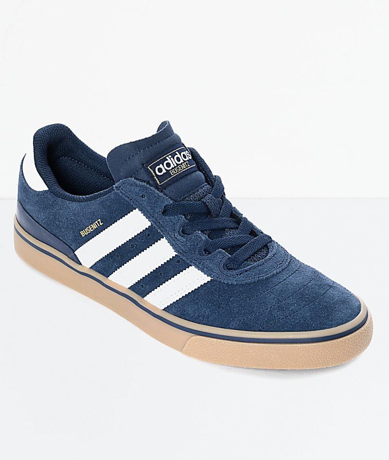 Injerto Revelar comercio  Mens Blue Skate Shoes - Adidas Busenitz Vulc Navy & White Shoes Navy - D  Treads