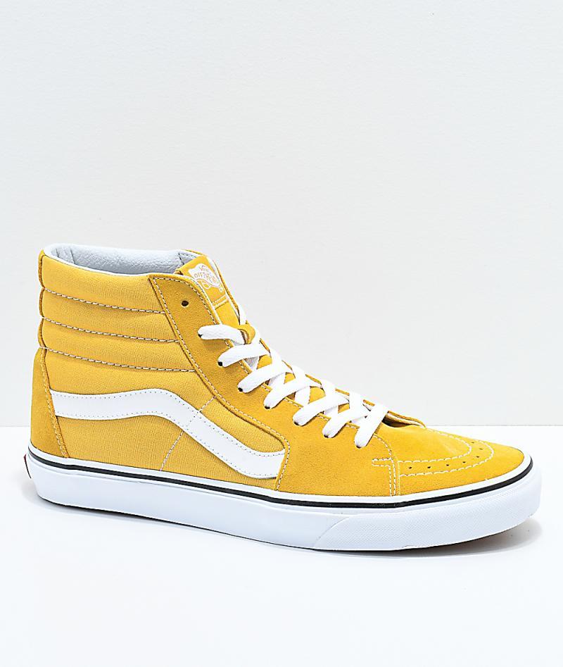 Mens Yellow Skate Shoes - Vans Sk8-Hi