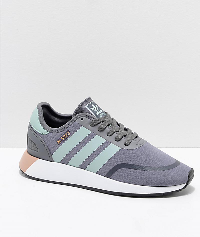 Womens Grey Runners - Adidas N-5923 CLS