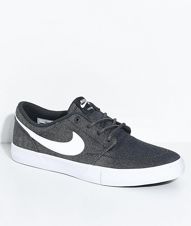 Mens Grey Skate Shoes - Nike SB Portmore II Anthracite, White ...
